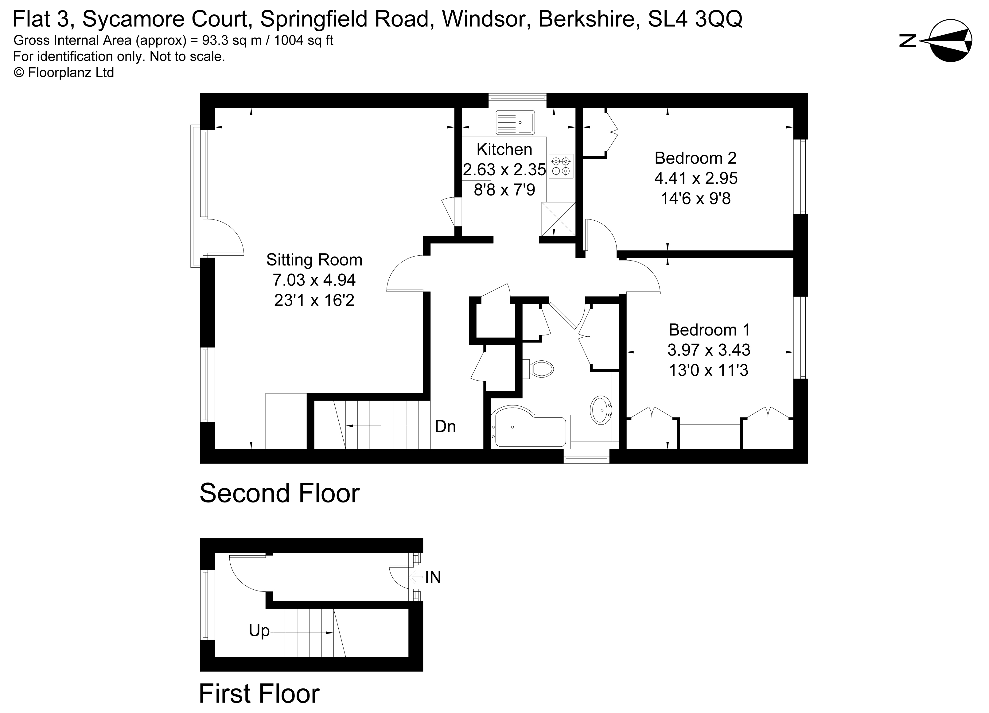 Floorplans For Sycamore Court, Springfield Road, Windsor