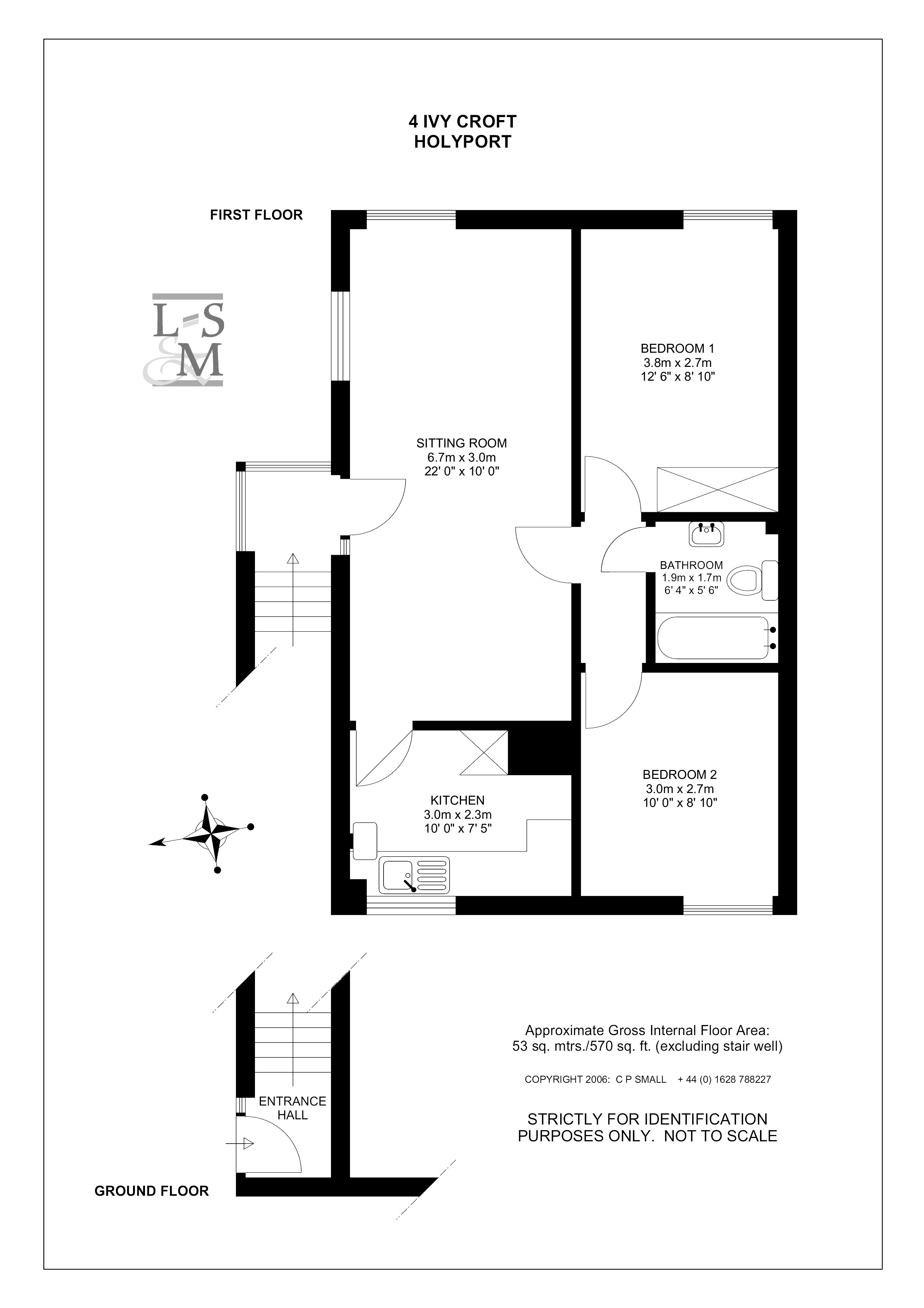 Floorplans For Ivycroft, Ivy Close, Moneyrow Green, Holyport