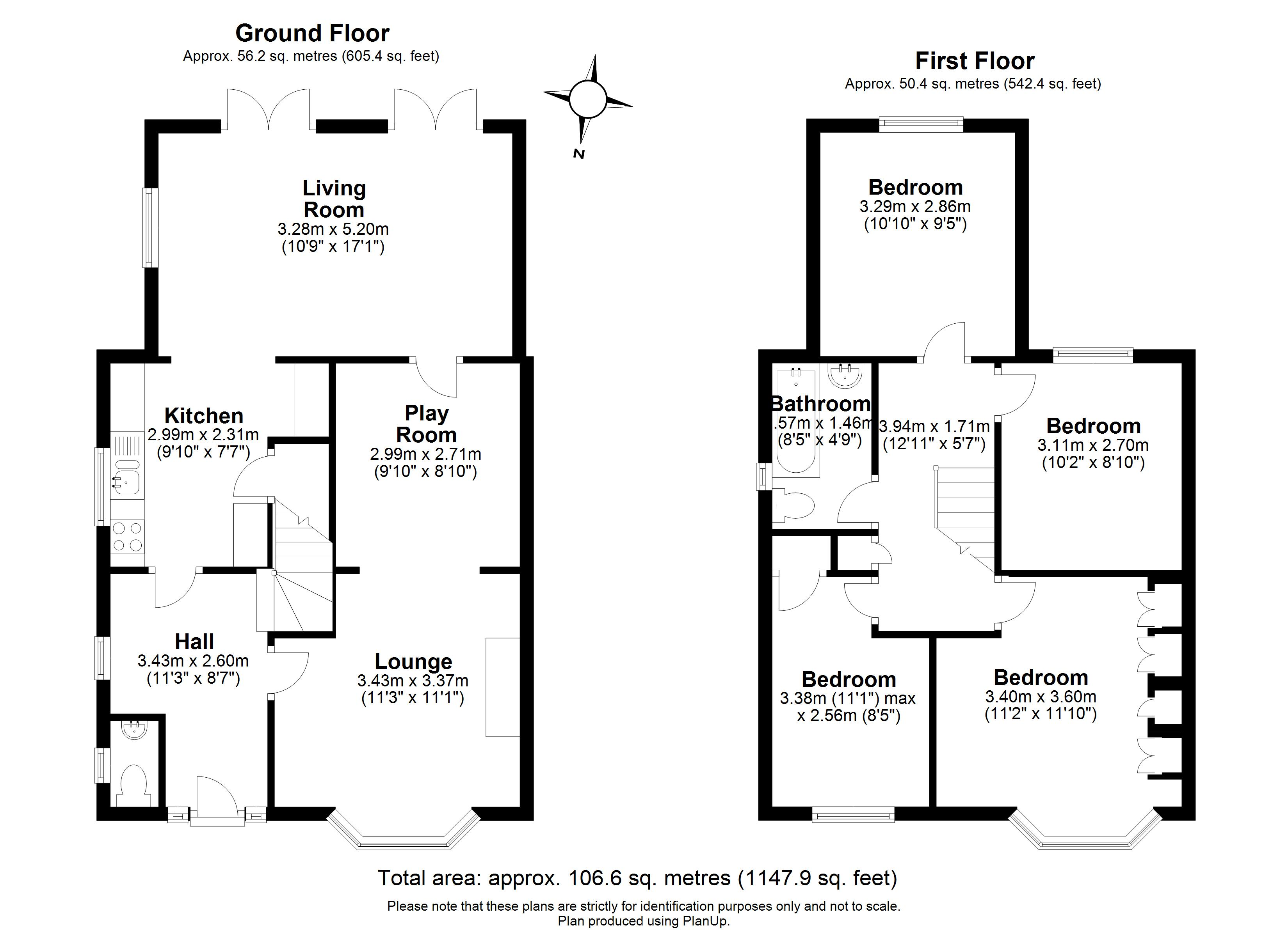 Floorplans For Carter Close, Windsor